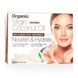 Dr. Organic Tápláló és hidratáló arcápoló duó bio szűz kókuszolajjal