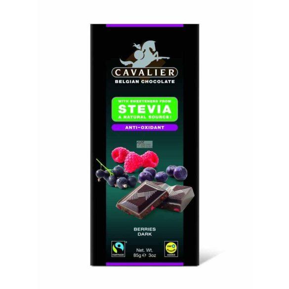 Cavalier étcsokoládé stevia bogyós gyümölcs 85 g