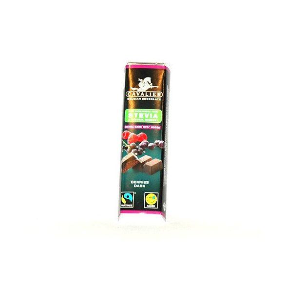 Cavalier étcsokoládé szelet stevia bogyós gyümölcs 40 g