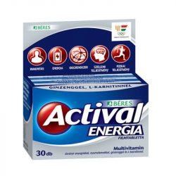 BÉRES ACTIVAL ENERGIA TABLETTA 30 DB 30 db