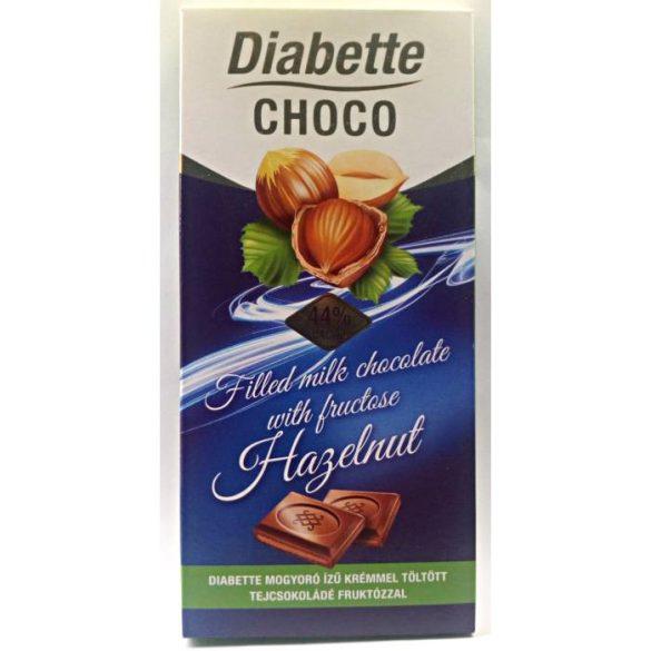 Diabette töltött tejcsokoládé (mogyoró ízű) 80 g