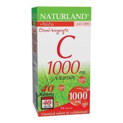 NATURLAND C-VITAMIN TABLETTA 40 DB 1000