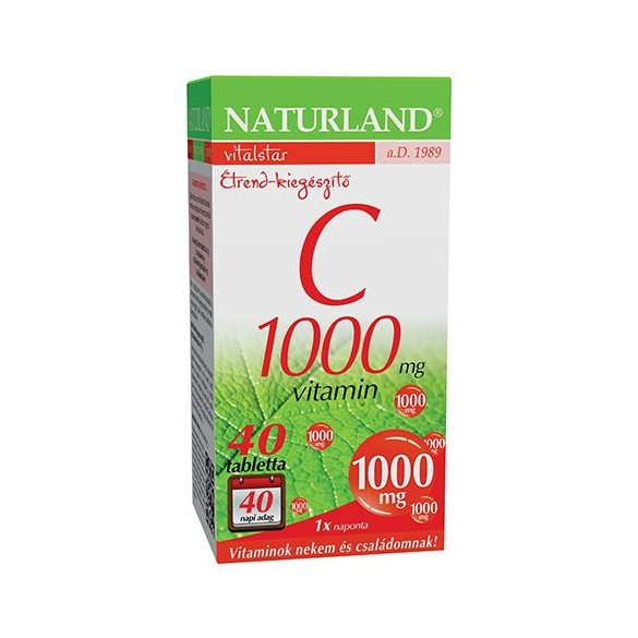 NATURLAND C-VITAMIN 1000MG TABLETTA