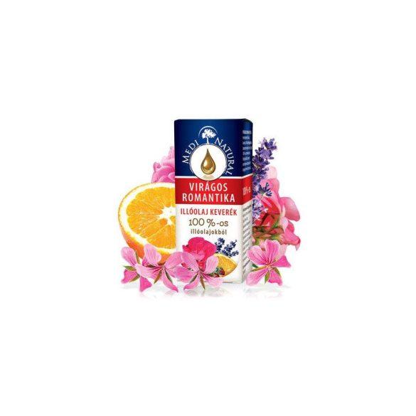 Medinatural virágos romantika 100% illóolaj keverék 10 ml