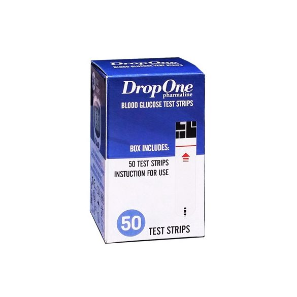 Drop One vércukorszint mérő tesztcsík 50 db