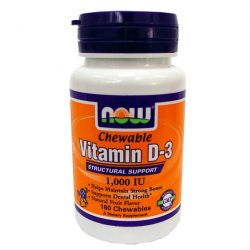 NOW D3 VITAMIN RÁGÓTABLETTA 180 db