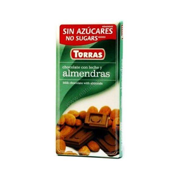 TORRAS TEJCSOKOLÁDÉ MANDULÁS CM.GM. 75 g