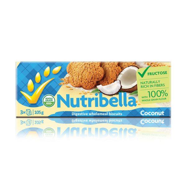 Nutribella keksz fruktózzal kókuszos 105 g
