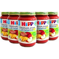 Hipp 6440 céklafőzelék almával-marhahús. 220g
